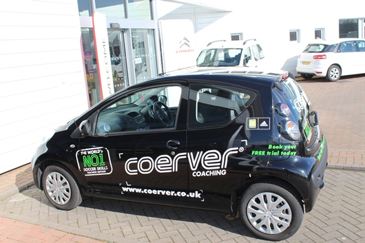 Coerver Coaching UK Take Delivery Of Latest Vehicle In Citroen Partnership